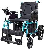 Silla de ruedas eléctrica Silla de ruedas eléctrica Ligero y plegable Vespa silla de ruedas ligera portátil for usuarios discapacitados mayores de movilidad for su uso en todas las superficies Viaje c