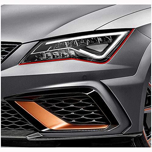 Finest Folia - Tiras adhesivas decorativas para faros de Seat Ibiza Cupra ST SC 6J RS, diseño con aspecto de ojos malvados