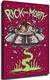 Tony Jeans Rick and Morty Blacklight Poster 3D Hand-Painted Bedroom Bathroom Home Office Living Room Decorations, Framed, 18x24in.Medium