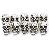 ULTNICE Totenkopf Schädel Perlen für DIY Halskette Armbänder 10 Stück
