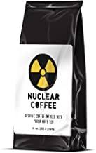 NUCLEAR Coffee Whole Bean Organic Coffee Infused With Yerba Mate Tea Strong & Satisfying 16 Oz