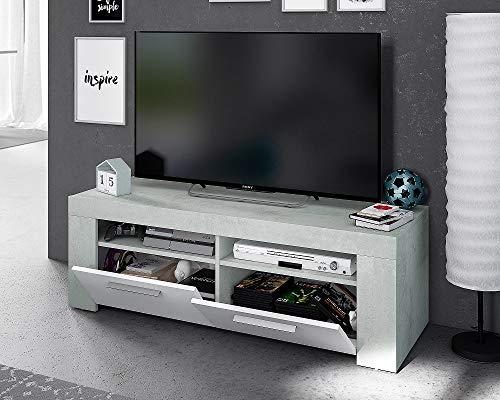 Salone Negozio Online Kit Mobile TV Ambit 42X120X40H Bianco Cemento