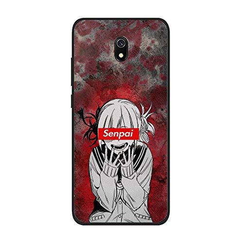 Mosku Black Case for XIAOMI Redmi 8A, Sad Japanese Himiko-Toga 8 Coque Silikon Thin Soft Rubber Anti-Slip