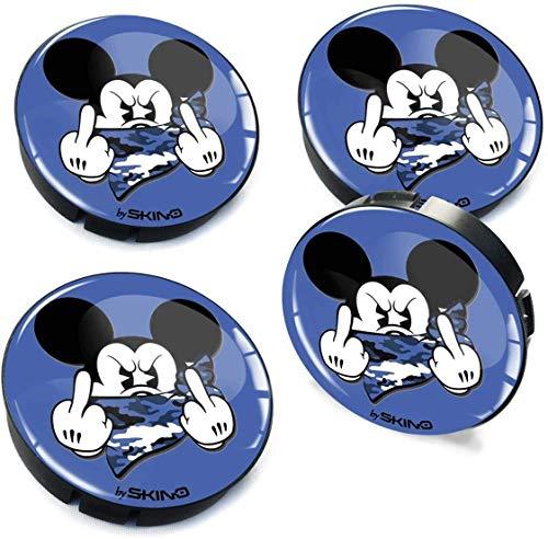 4 X 60 mm 3D gel centro de rueda de coche llanta universal cubierta del centro de rueda coche auto tuning logo mouse C 37