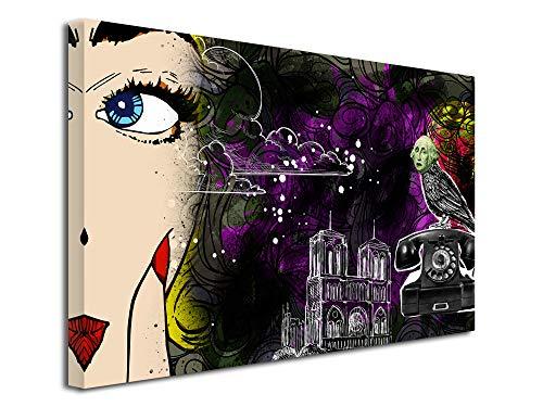 DECLINA wandfoto, wanddecoratie, woonkamer, bedrukt, canvas, decoratie, collage, origineel, 50 x 30 cm, meerkleurig 150x100 cm multicolor