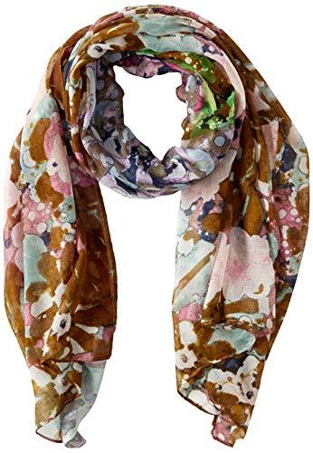 Desigual Damen Foul_Kaleidoscope Schal, Grün (Kaki 4092), One Size (Herstellergröße: U)