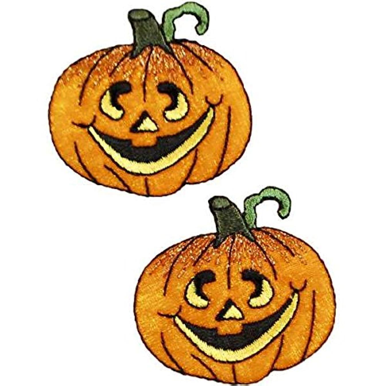 Expo International Halloween Jack-O-Lantern Iron-on Applique Trim Embellishment, Multi-Color, 2-Pack