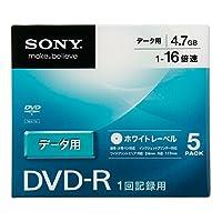 ソニー データ用DVD-R 16倍速 5mmケース 5枚パック 5DMR47KLPS