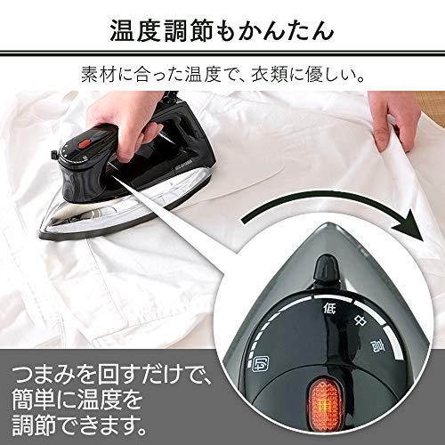 アイリスオーヤマ『ドライアイロンブラック(PDIR-01F-B)』