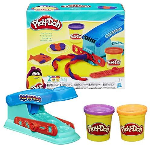 Play-Doh - Fabbrica Base per Modellare, Macchina Divertente con 2 Colori Play-Doh Non tossici