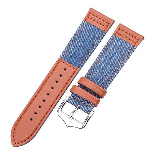 ZXF Correa Reloj, Galaxy Correa de Reloj de 22mm 46mm Correa de Accesorios Inteligentes de Reloj del Cuero Genuino Pulsera (Band Color : Blue, Band Width : GT)