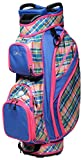 Glove It Women's Golf Bag, Lightweight Golf Cart Bag for Ladies with 14 Golf Club Holders, Putter Well & 9 Easy-Access Pockets, Plaid Sorbet