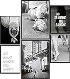 Papierschmiede® Mood-Poster Set Ballerina | 6 Bilder als
