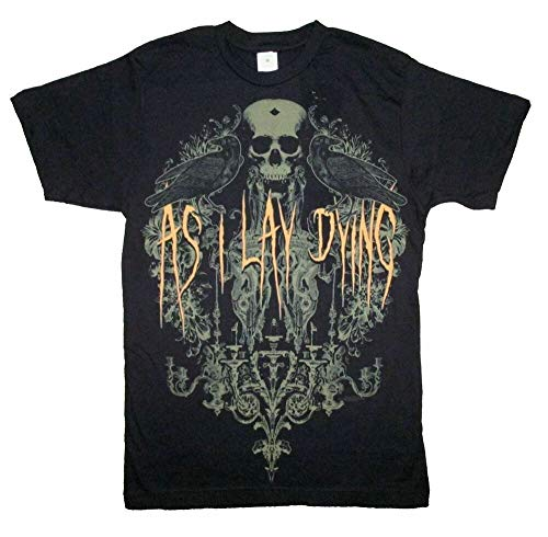 DENGDENG As I Lay Dying Birds Mens Men's Short-Sleeve T-Shirt Tee Adult Black S