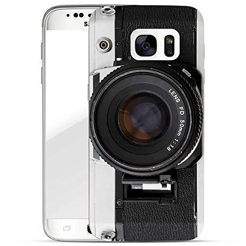Hülle für Samsung Galaxy S7 - Handyhülle mit Motiv und Optimalen Schutz Tasche Case Hardcase Cover Schutzhülle - Kamera FD Lens