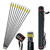 ZSHJG 31Inch Archery Carbon Arrows Hunting Arrows Spine 1000 2