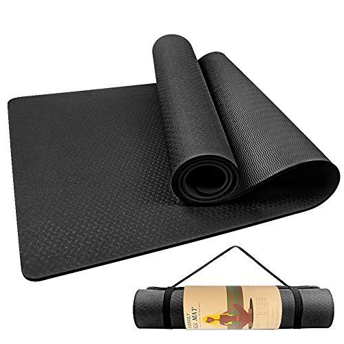 Gymnastikmatte Phthalatfrei, StillCool Yogamatte rutschfest, hochwertige Trainingsmatte, Pilatesmatte und Fitnessmatte mit Tragegurt - Ideal für Sport Outdoor, Fitness und Yoga Zuhause, 183*61*0.6cm