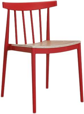 ZLZ- Modern Minimalist Leisure Plastic dining chair Simple (Color : E)