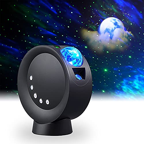 LITENERGY LED Sky Projector Light, Galaxy Lighting, Nebula Star Night Lamp with Base and Remote Control for Gaming Room, Home Theater, Bedroom , or Mood Ambiance (Black)