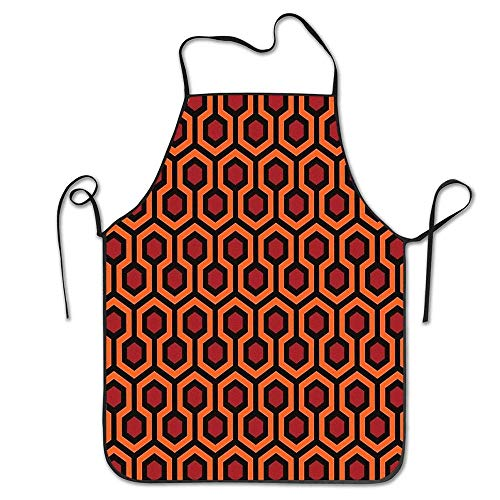dfhfdsh Küchenschürze,Grillschürzen,Personalised Aprons, Women Apron Chef Kitchen Cooking Pinafore Great Gift for Girls Boys - Overlook Hotel Carpet The Shining Waiter Apron