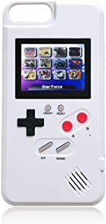 Goglor Gameboy Case for iPhone,Retro 3D Gameboy Design with 36 Small Games,Game Console iPhone Case,Color Screen,Silicone Cover Case for iPhone X/XS/XR/Xs MAX,iPhone 6/7/8,iPhone 6Plus/7Plus/8Plus
