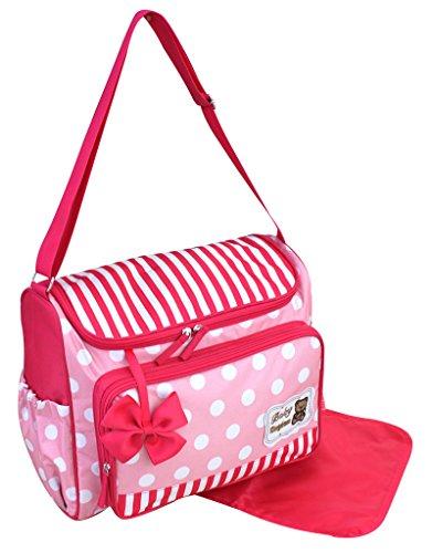 GMMH 2 tlg Wickeltasche Pflegetasche Windeltasche Babytasche Farbauswahl (3140, rosa)