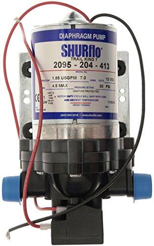 Shurflo Trail King 7 Pompa dell'Acqua - Argento, 12 V/30 PSI