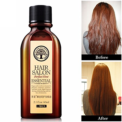 Cosprof Huile de traitement des cheveux et du cuir chevelu Maroc pour réparer les cheveux abîmés, 60 ml