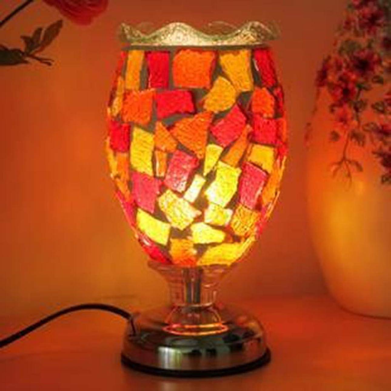 見ましたはねかける勢いシロス 色ガラステーブルランプ暖かい装飾プラグインアロマセラピーテーブルランプ研究室の装飾クリスマス (Color : E)