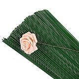 Rmeet Alambre de Tallo,Floral Wire 100 Pack Verde Floristas Alambres de Calibre para Flores...