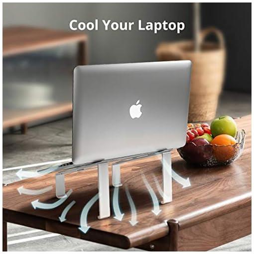 Soporte Portatil, Soporte Ordenador Portatil Elevador Portatil Mesa Gaming Laptop Stand, Compatible con Macbook Pro Air… 6