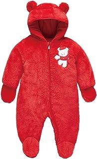 Baby Snowsuit Winter Romper Footies Jumpsuit Hooded Onesies, 0-3 Months