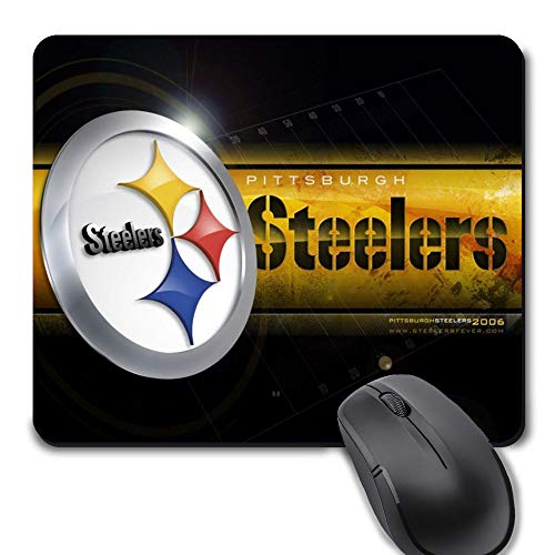 Pittsburgh Football Team Mouse Pad,Life Needs Sport Mousepad with Non-Slip Rubber Base for Laptop Computer Gaming Desktop Mat