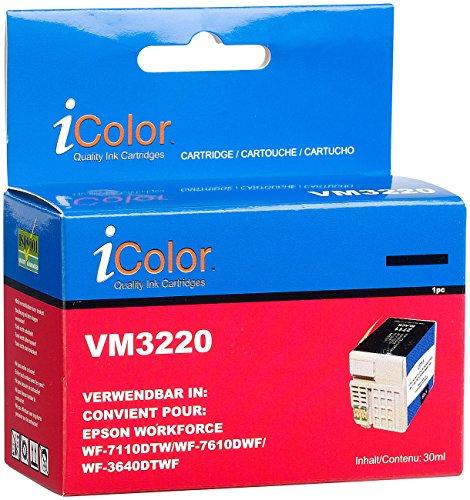iColor kompatible Tintenpatronen für Tintenstrahldrucker, Epson: Tintenpatrone für Epson (ersetzt T2711 / 27XL), Black XL