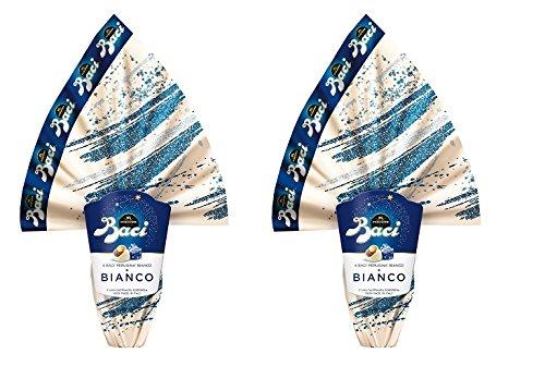 OFFERTA pasqua 2018- 2 Uova BACI PERUGINA al CIOCCOLATO BIANCO con SORPRESA da GR 266 - Finissimo cioccolato bianco con 4 baci perugina bianco