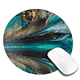 Gaming Large Mouse Pad Round Gaming Laptop Non-Slip Base, Water-Resistant, for Work & Gaming, Office & Home 20cm