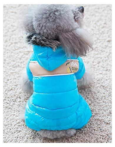 IMSPLULE Haustier Kleiner Hund Warmer Mantel Katze Welpe Hoodie Dicke Jacke Kleidung Kleidung für kleine Rasse Hund wie Chihuahua , Haustier Daunenjacke Blue-XL
