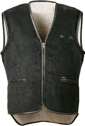 Cord Weste mit Webpelz,Farbe schwarz, Gr.XL
