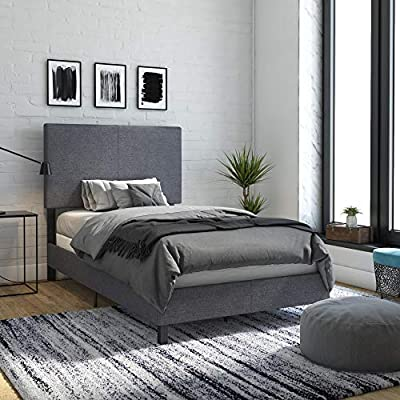 DHP Janford Upholstered Bed with with Chic Design
