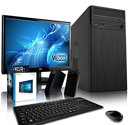 VIBOX Vision 11 Gaming PC Computer mit War Thunder Spiel Bundle, Windows 10 OS, 19 Zoll HD Monitor (3,9GHz AMD A4 Dual-Core Prozessor, AMD Radeon R5 230, 8Go DDR3 1600MHz RAM, 1TB HDD)