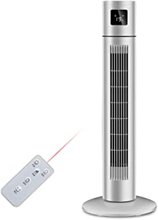 COLER Acondicionador de Aire Ventilador Torre Sin aspas Enfriamiento, Enfriadores evaporativos con deshumidificador Enfriador Aire frío Simple Remoto Temporizador para hogar Oficina