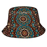 Be-ryl Gorra para Sol Tribal Vintage Abstracto Geométrico étnico Vector Transparente Cubo Sombrero para el Sol Protección Packable Summer Fisherman Cap