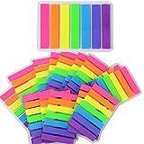 ★2240pcs Marcadores Adhesivos Páginas Notas Autoadhesivas Indices Pegajosas Colores Etiquetas de Escribir 45*8mm 7 Colores