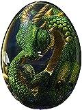 ZHEYANG Juguetes Dinosaurios Regalo de Recuerdo de Escultura de Huevo de dragón Transparente de Cristal de ensueño para niños Model:G01309(Color:Green)