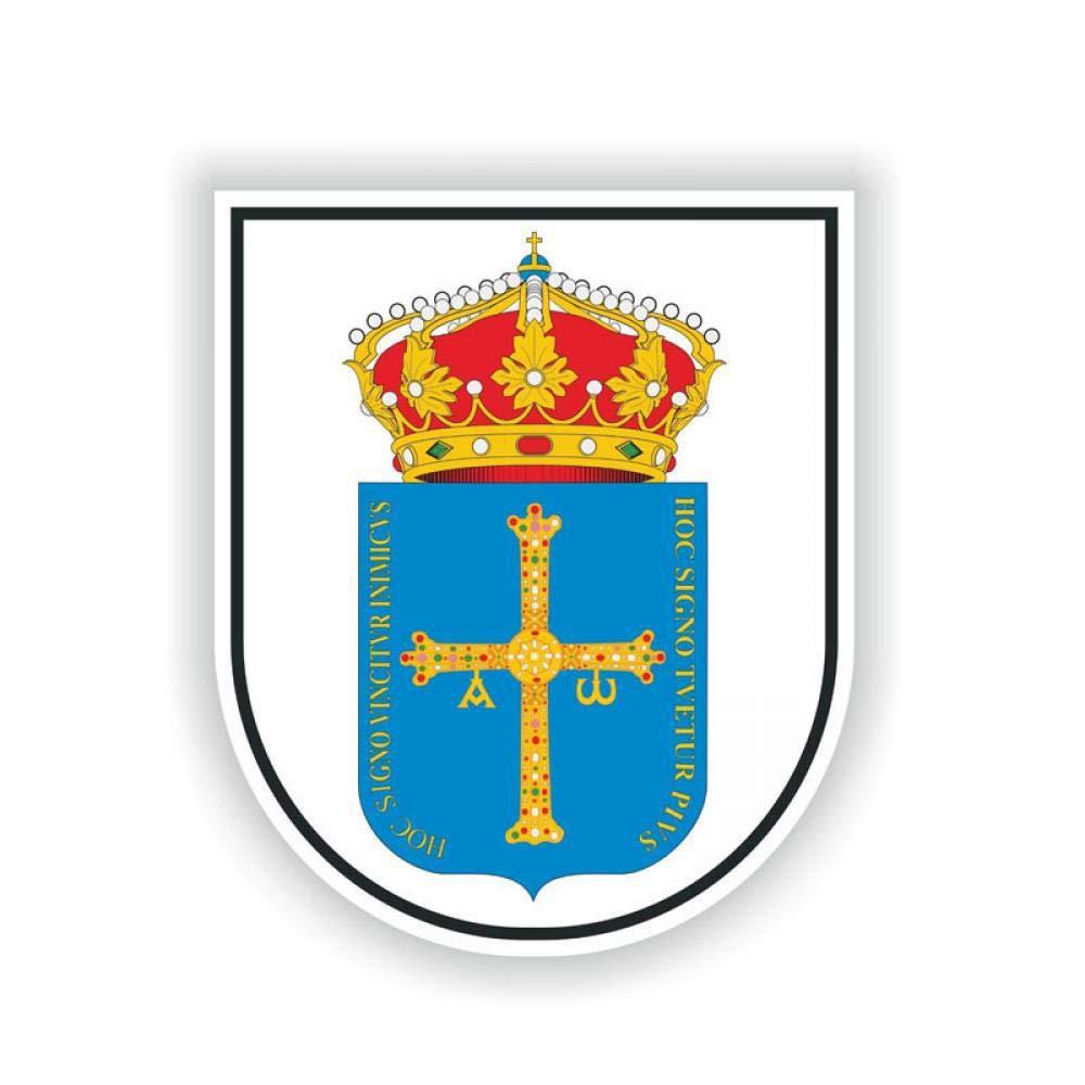 Calcomanía Escudo de Asturias Escudo de Armas de 9,2 cm, 11,1 cm, Accesorio para Casco de Coche de España 6-2148: Amazon.es: Electrónica