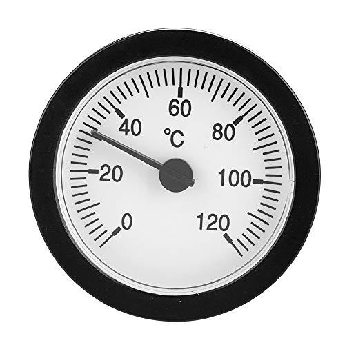 VBESTLIFE Thermomètre à Eau Chaude 1.5m, Thermomètre de Chauffage Cadran de Pression 0-120 ° C Tuyau Rond pour Mesurer Les Liquides et Tester