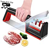 Kitchen Knife Sharpener, Knife Sharpening Tool with Anti Slip Bas
