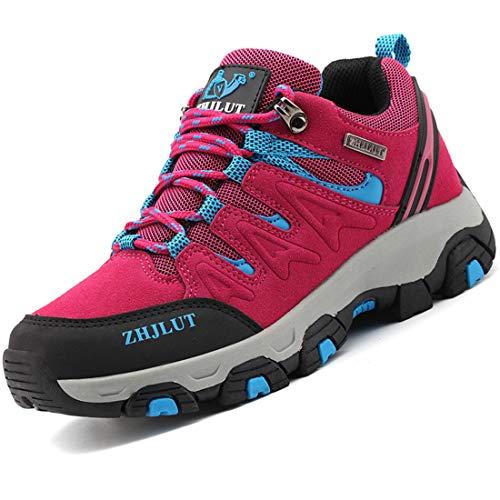 Zapatillas de Trekking para Hombres Zapatillas de Senderismo Botas de Montaña Antideslizantes Calzado de Trekking Botas de Senderismo AL Aire Libre Transpirable Sneakers EU35-47 🔥