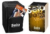 Sela SE 144 IT - Cajón con mochila, cajón pad y método de cajón en italiano y CD/DVD, color oro