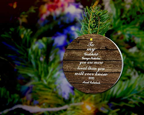 Lplpol Adorno de madera con texto en inglés 'You Are Loved', ahijado, ahijado, regalo de ahijado, ahijado, regalo ligero
